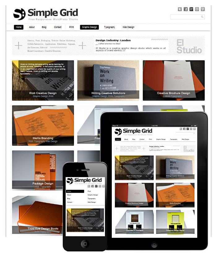 Free WordPress Theme: SIMPLE GRID | Doteasy WordPress Resources ...