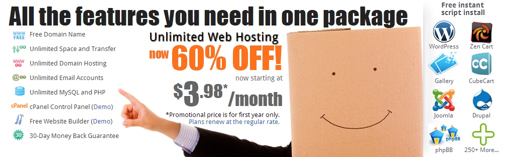 Unlimited Hosting   Doteasy.com