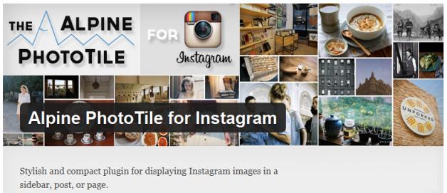 Free WordPress Plugin: Alpine PhotoTile for Instagram | Doteasy