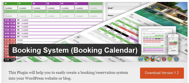 Calendar Booking Plugin Wordpress : Free wordpress plugin booking system calendar