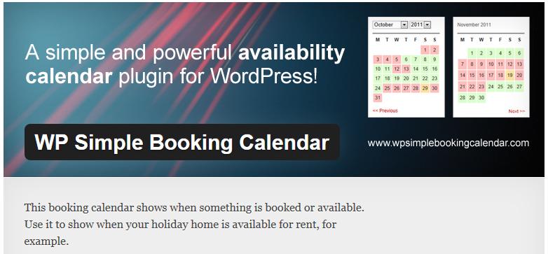 Free WordPress Plugin: WP Simple Booking Calendar | Doteasy