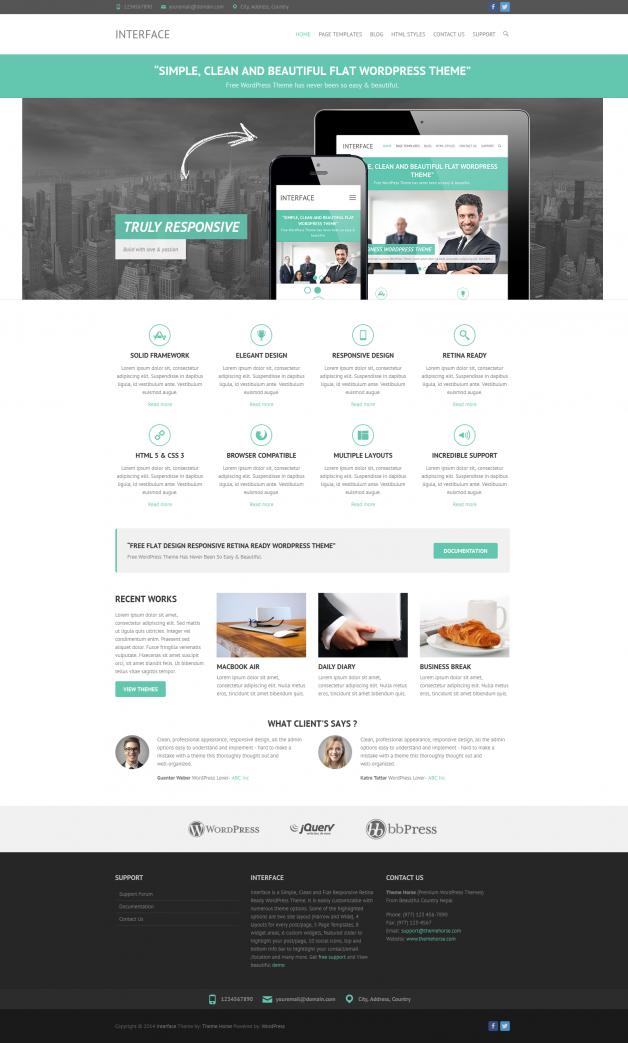 Free WordPress Theme: Interface | Doteasy WordPress Resources ...