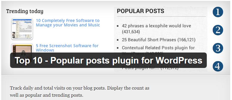 Free WordPress Plugin Top 10 Por Posts For