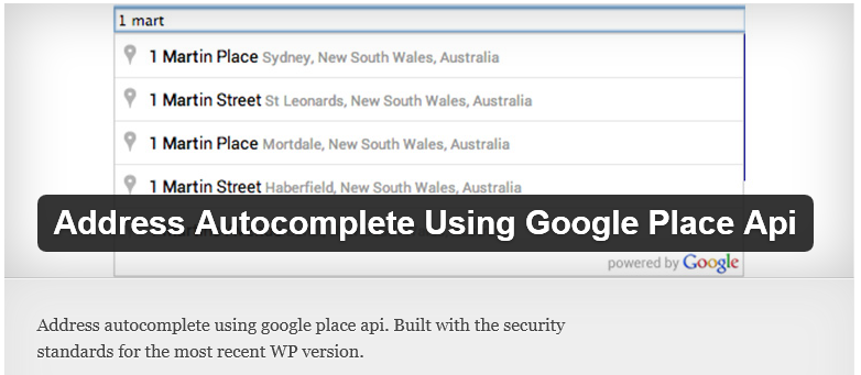 Free WordPress Plugin: Address Autocomplete Using Google Place Api