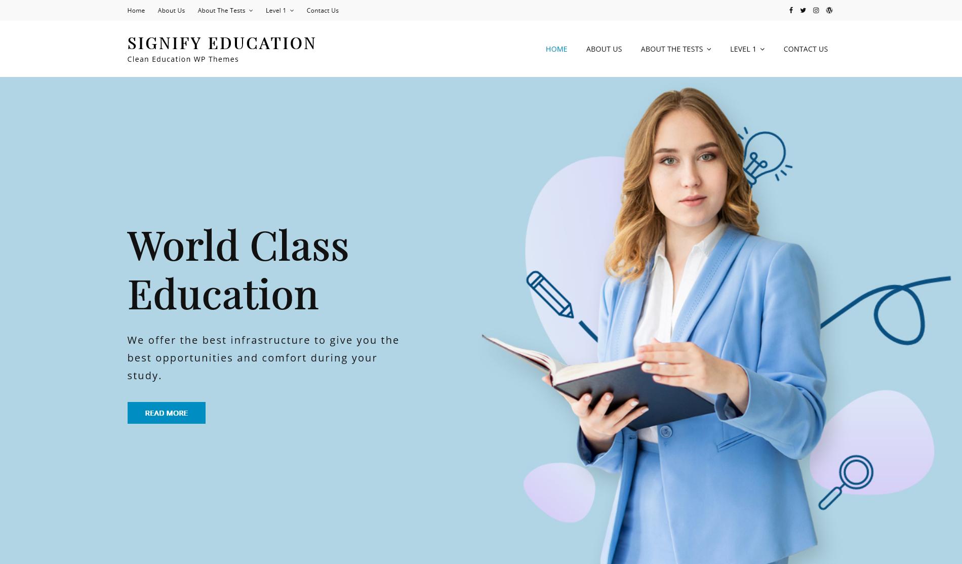 Free WordPress Theme: Signify Education