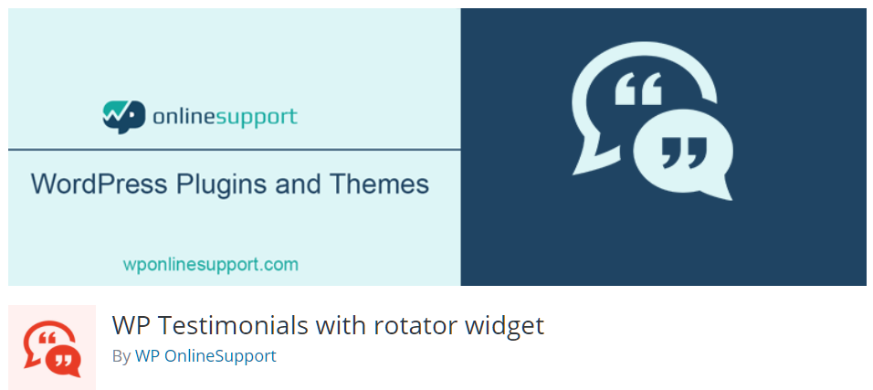 Free WordPress Plugin: WP Testimonials with Rotator Widget