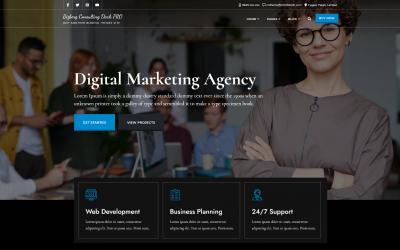 Free WordPress Theme: Bizberg Consulting Dark