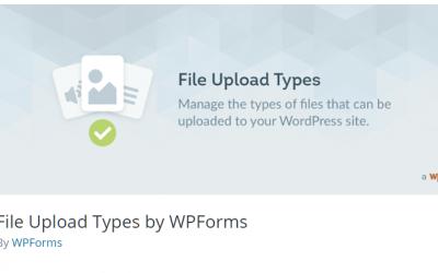 Free WordPress Plugin: File Upload Types by WPForms
