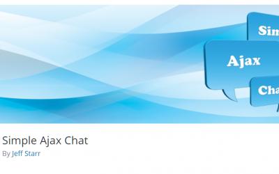 Free WordPress Plugin: Simple Ajax Chat