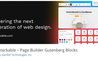 Free WordPress Plugin: Stackable – Page Builder Gutenberg Blocks