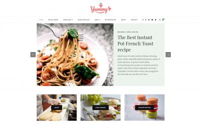 Free WordPress Theme: Yummy Recipe