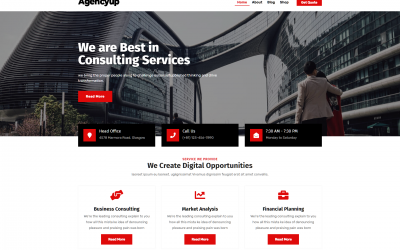 Free WordPress Theme: Agencyup