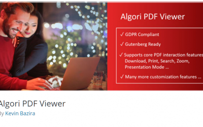 Free WordPress Plugin: Algori PDF Viewer