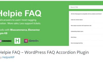 Free WordPress Plugin: Helpie FAQ – WordPress FAQ Accordion Plugin