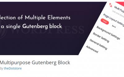 Free WordPress Plugin: Multipurpose Gutenberg Block