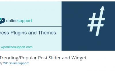Free WordPress Plugin: Trending/Popular Post Slider and Widget