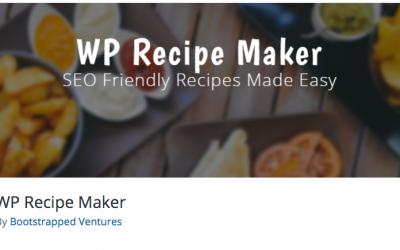 Free WordPress Plugin: WP Recipe Maker
