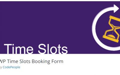 Free WordPress Plugin: WP Time Slots Booking Form