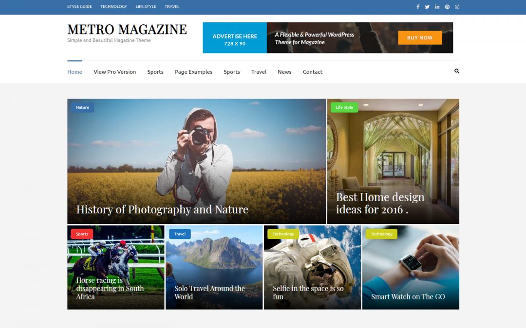 Free WordPress Theme: Metro Magazine