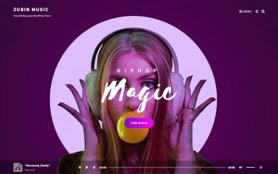 Free WordPress Theme: Zubin Music