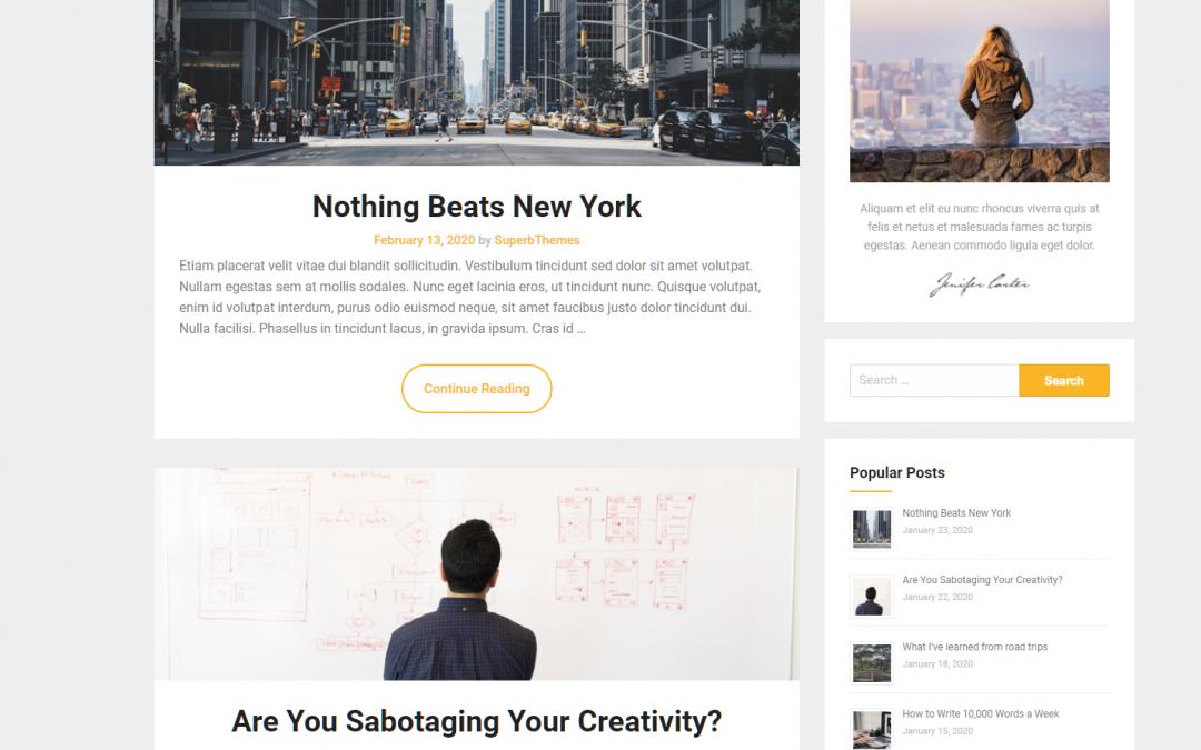 Free WordPress Theme: JournalistBlogily