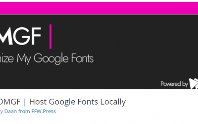 Free WordPress Plugin: OMGF | Host Google Fonts Locally