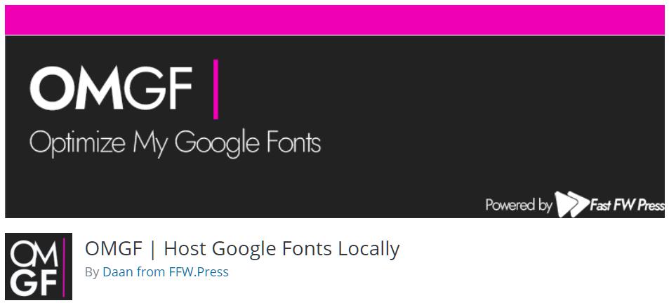 Free WordPress Plugin: OMGF   Host Google Fonts Locally