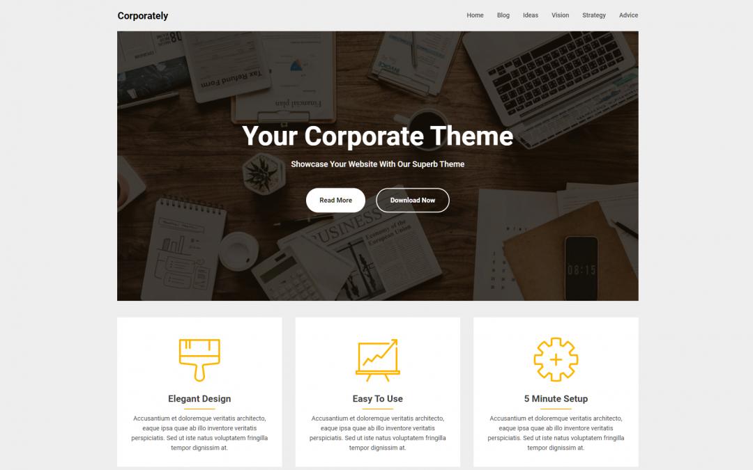 Free WordPress Theme: Corporately