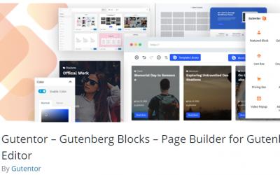 Free WordPress Plugin: Gutentor – Gutenberg Blocks – Page Builder for Gutenberg Editor