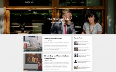 Free WordPress Theme: Startup Hub