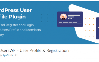Free WordPress Plugin: UsersWP – User Profile & Registration