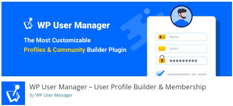 Free WordPress Plugin: WP User Manager – User Profile Builder & Membership