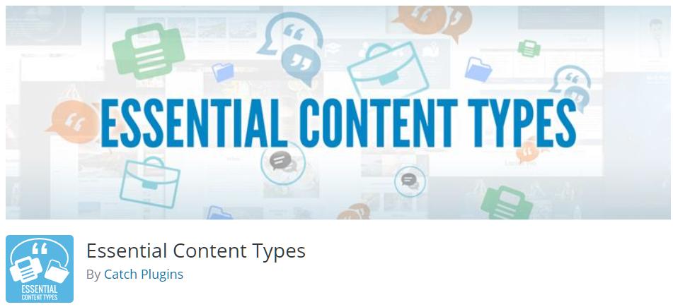 Free WordPress Plugin: Essential Content Types