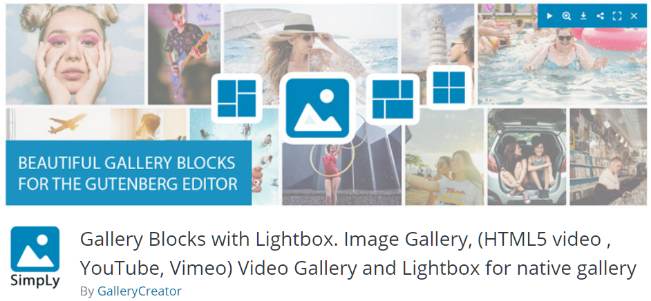 Free WordPress Plugin: Gallery Blocks with Lightbox