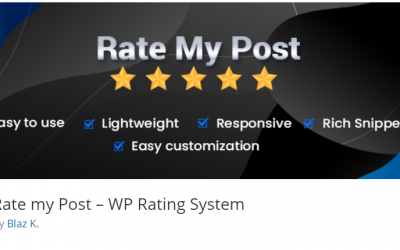 Free WordPress Plugin: Rate my Post – WP Rating System