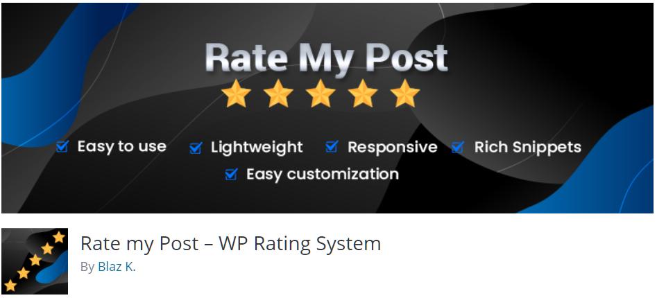 Free WordPress Plugin: Rate my Post – WP Rating System
