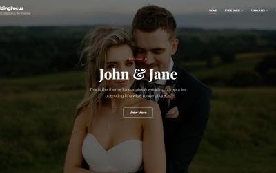 Free WordPress Theme: WeddingFocus