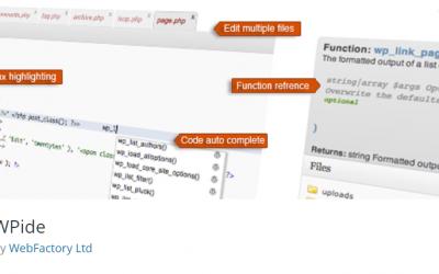 Free WordPress Plugin: WPide