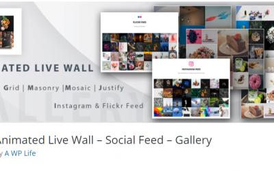 Free WordPress Plugin: Animated Live Wall – Social Feed – Gallery