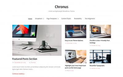 Free WordPress Theme: Chronus