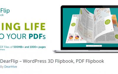 Free WordPress Plugin: DearFlip – WordPress 3D Flipbook, PDF Flipbook