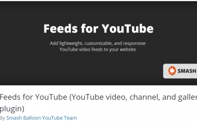 Free WordPress Plugin: Feeds for YouTube (YouTube video, channel, and gallery plugin)