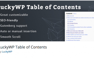 Free WordPress Plugin: LuckyWP Table of Contents