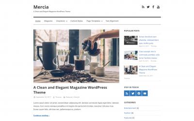 Free WordPress Theme: Mercia