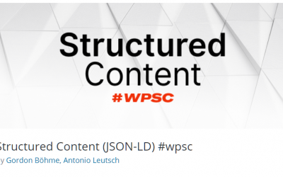 Free WordPress Plugin: Structured Content (JSON-LD)