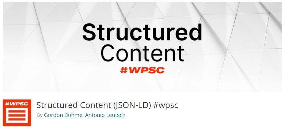 Free WordPress Plugin: Structured Content (JSON-LD)