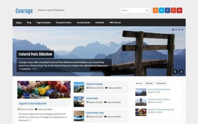 Free WordPress Theme: Courage
