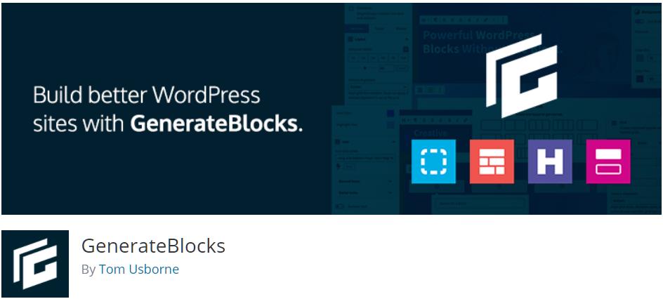 Free WordPress Plugin: GenerateBlocks