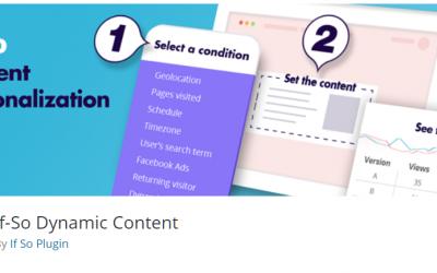 Free WordPress Plugin: If-So Dynamic Content