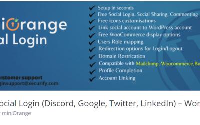 Free WordPress Plugin: Social Login (Discord, Google, Twitter, LinkedIn) – WordPress